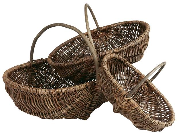 petit panier ovale en osier brut anse fixe 31x20x10 cm. Black Bedroom Furniture Sets. Home Design Ideas