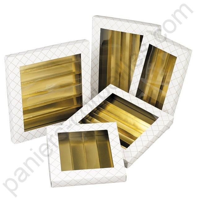 Coffret chocolat rectangle 5 rang es carton blanc for Fenetre rectangle