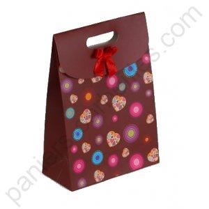 sac en carton chocolat d cor multi colore c urs 19x9x27 cm. Black Bedroom Furniture Sets. Home Design Ideas
