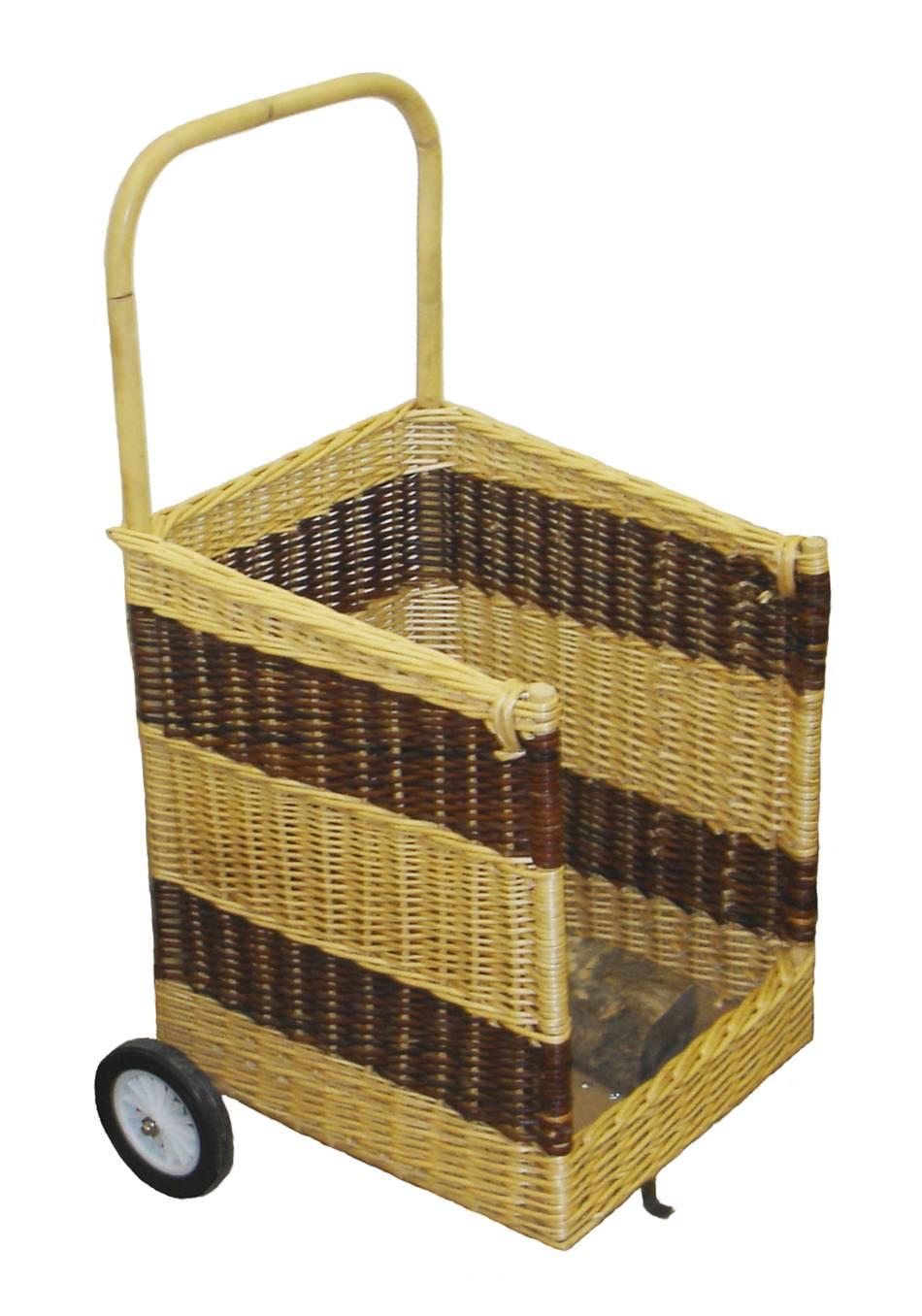 chariot bois en osier 2 tons carr ouvert fabrication. Black Bedroom Furniture Sets. Home Design Ideas