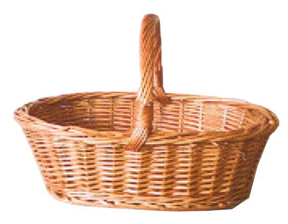 Panier de courses ou de r colte en osier buff bas for Ou trouver des paniers en osier