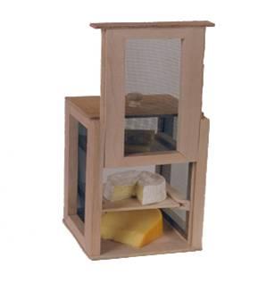 Fromager de table en bois 2 claies 1 porte avec fermeture for Porte avec fenetre guillotine