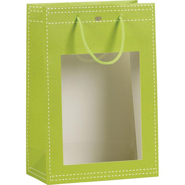 Sac boutique vert anis avec grande fenetre pvc - Lambris pvc vert anis ...
