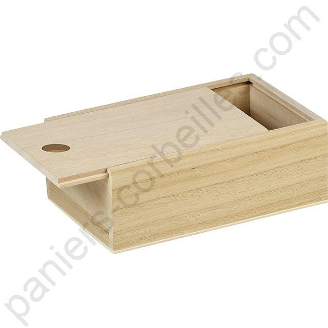 coffret en bois de pauwlonia avec couvercle glissiere. Black Bedroom Furniture Sets. Home Design Ideas