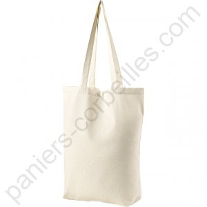 Tote bag 100% coton naturel écru38x42 cm