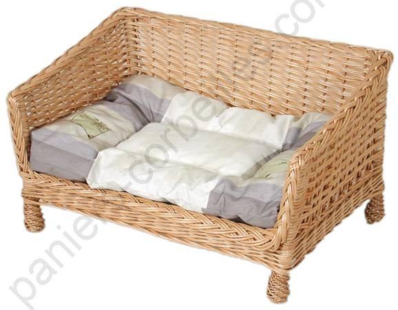 canap pour animaux en osier livr avec ses coussins existe en 2 tailles. Black Bedroom Furniture Sets. Home Design Ideas