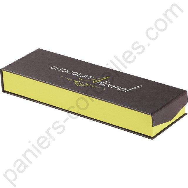 boite chapeau en carton avec tissu jean et simili cuir blanc 26x10 cm. Black Bedroom Furniture Sets. Home Design Ideas