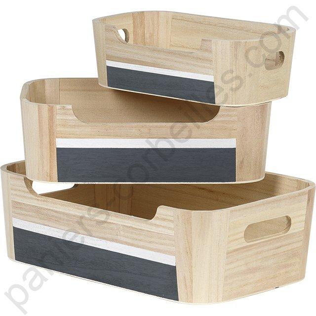 tr s belle petite cagette garnir en bois clair gris et blanc. Black Bedroom Furniture Sets. Home Design Ideas