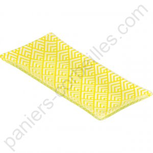 Plat en verre rectangle décor jaune 16.5x7.5x1.5 cm