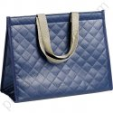 "Grand sac isotherme""fashion"" bleu 35x16x27 cm"